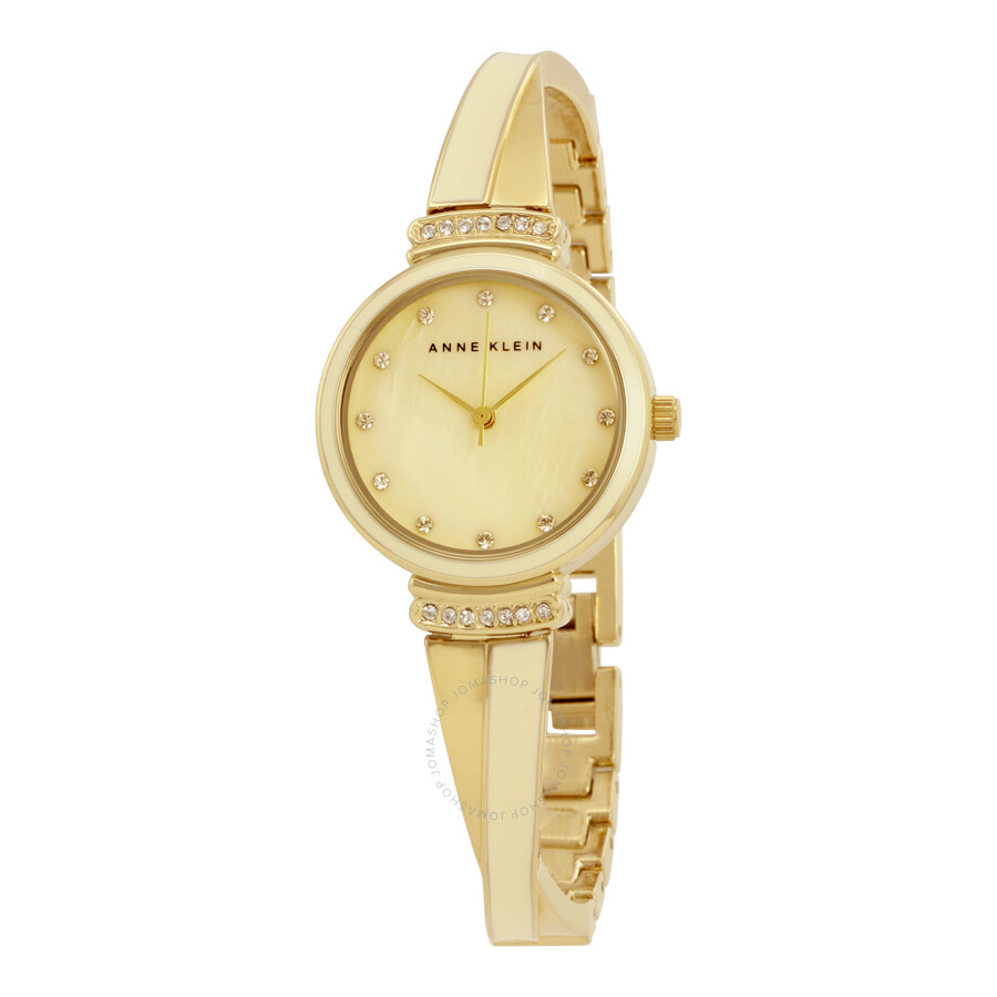 Anne Klein Ivory Mother of Pearl  Dial Ladies Watch 2216IVGB