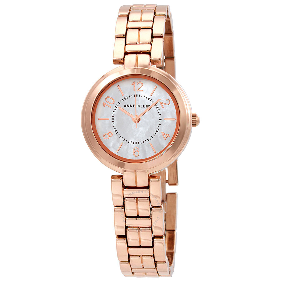 Anne klein ladies rose gold tone watch 3070mprg anne klein watches jomashop for Anne klein rose gold watch set