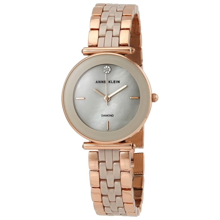 Anne Klein Ladies Rose Gold-tone Watch 3158TPRG