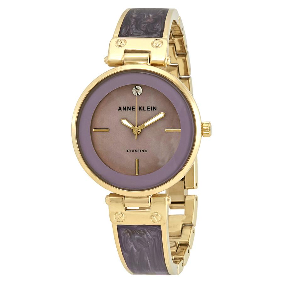 Anne Klein Lavender Enamel Dial Ladies Watch 2512LVGB