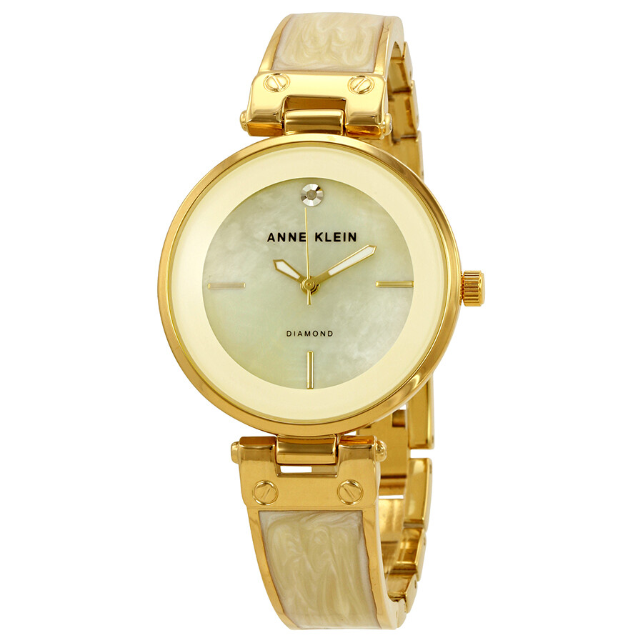 Anne Klein Mother of Pearl Dial Ivory Marble Ladies Watch 2512IVGB