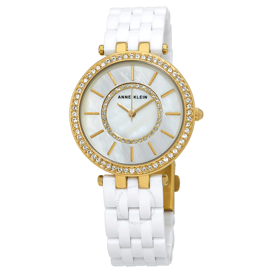 Anne Klein Mother of Pearl Dial Ladies Watch 2620WTGB