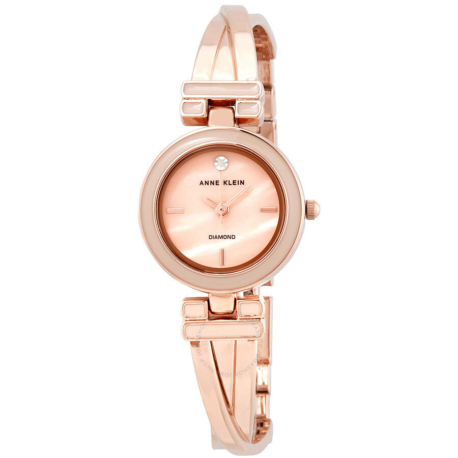 Anne Klein Pink Mother of Pearl Dial Rose Gold-tone Ladies Watch 2622LPRG
