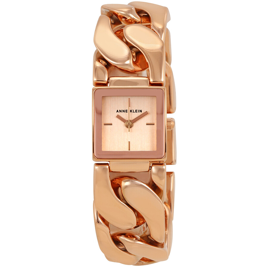Anne Klein Rose Gold Dial Stainless Steel Bangle Ladies Watch 2664RGRG