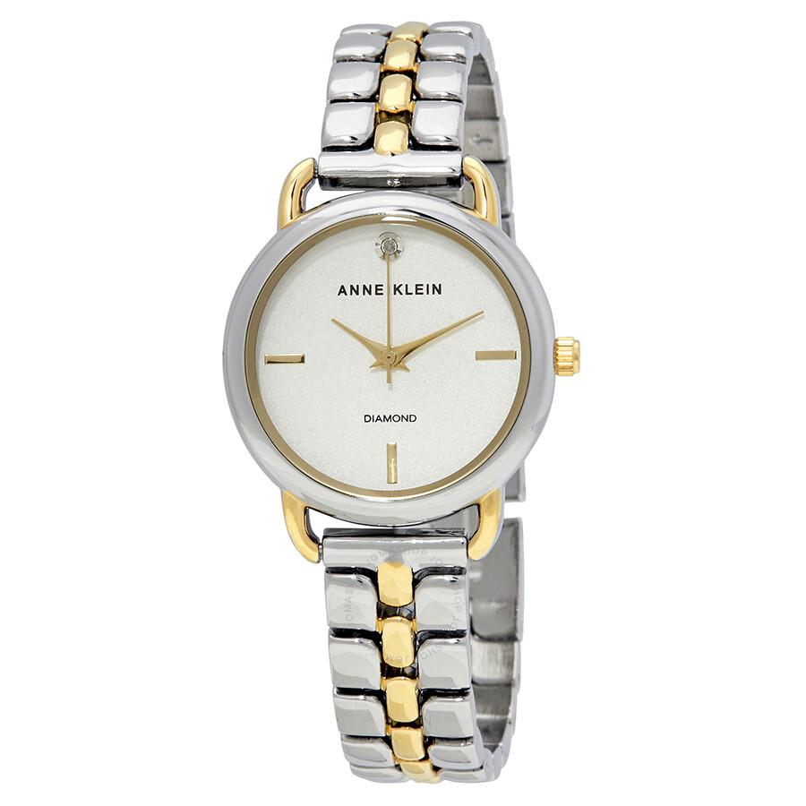 Anne Klein Silver Dial Ladies Watch 2795SVTT