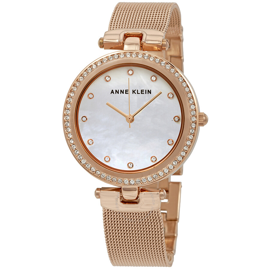 anne klein swarovski crystals ladies watch 2972mprg anne klein watches jomashop