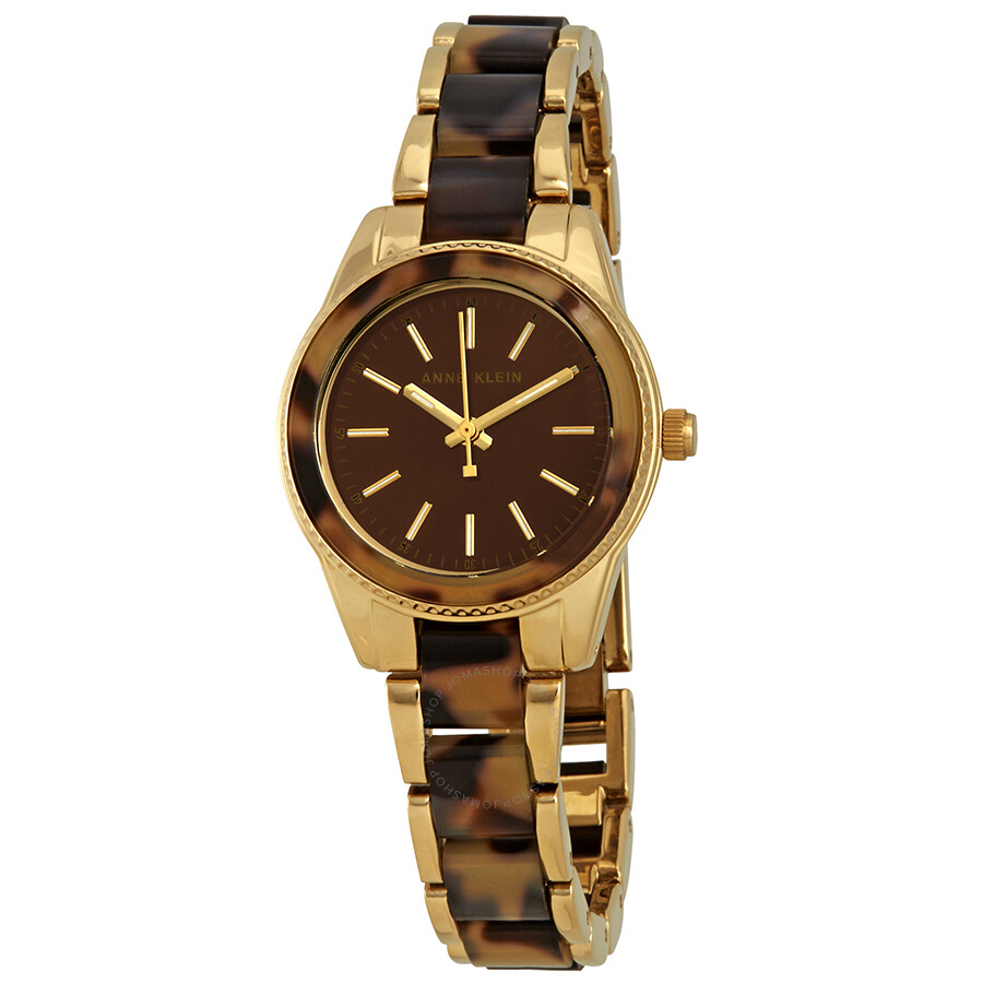 Anne Klein Trend Brown Dial Ladies Watch AK/3212TOGB ...