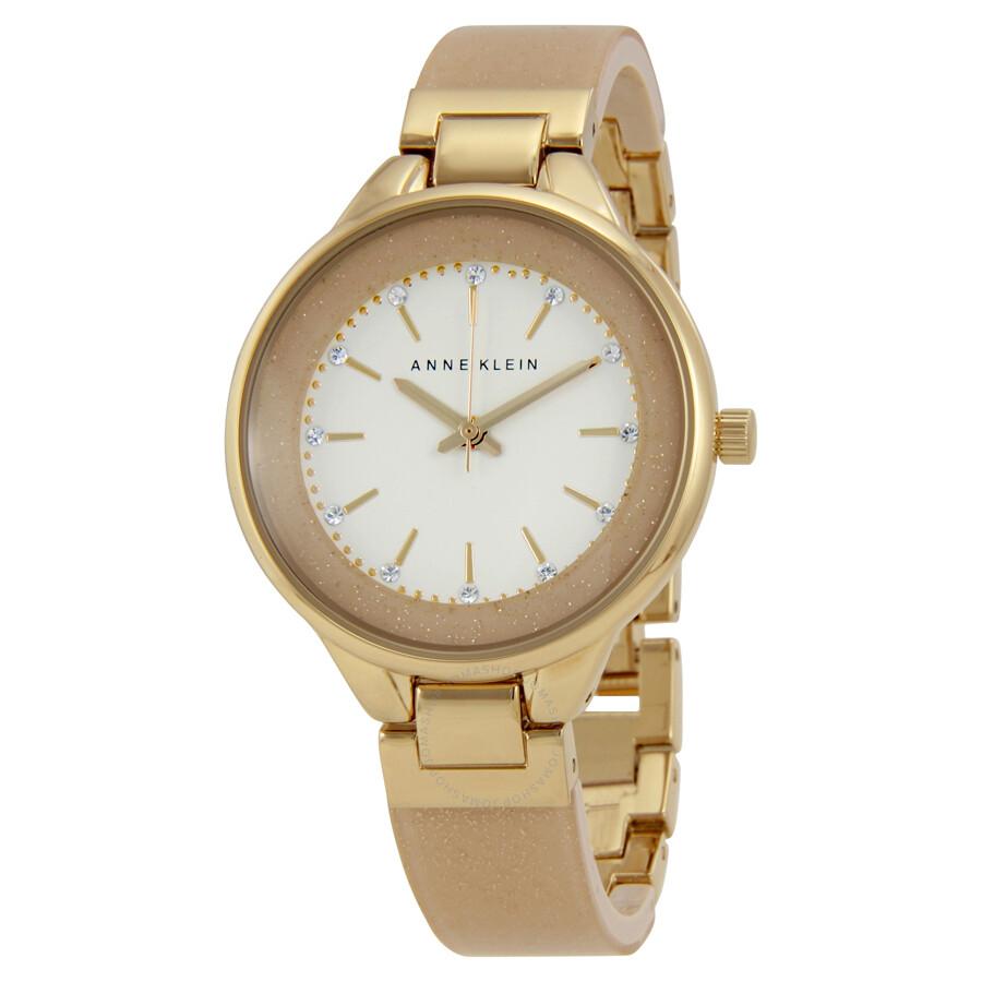 Anne Klein White Dial Ladies Watch 1408CRCR