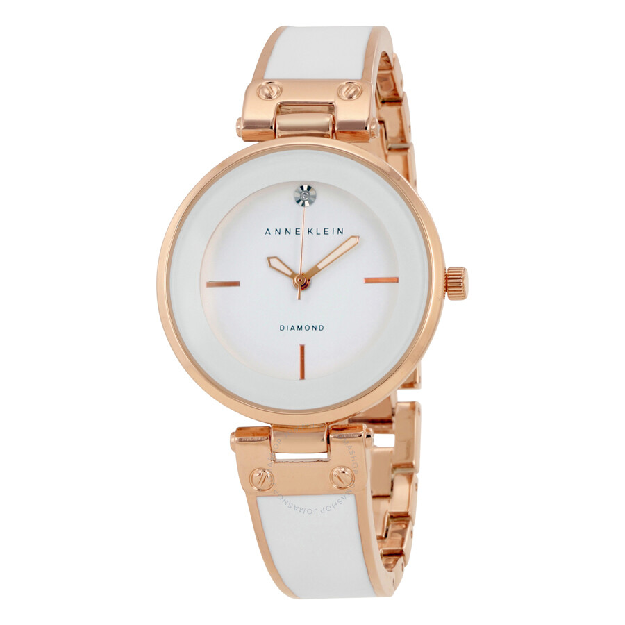 Anne Klein White Dial Ladies Watch 1414WTRG