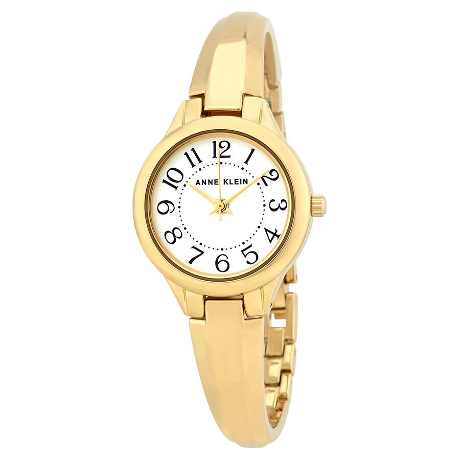 Anne Klein White Dial Watch 2452WTGB