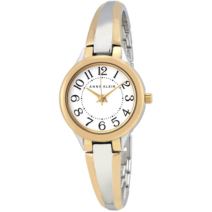 Anne Klein White Dial Watch 2453WTTT