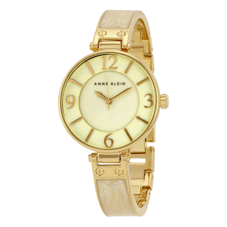 Anne Klein White Mother of Pearl Dial Ladies Watch 2210IMGB