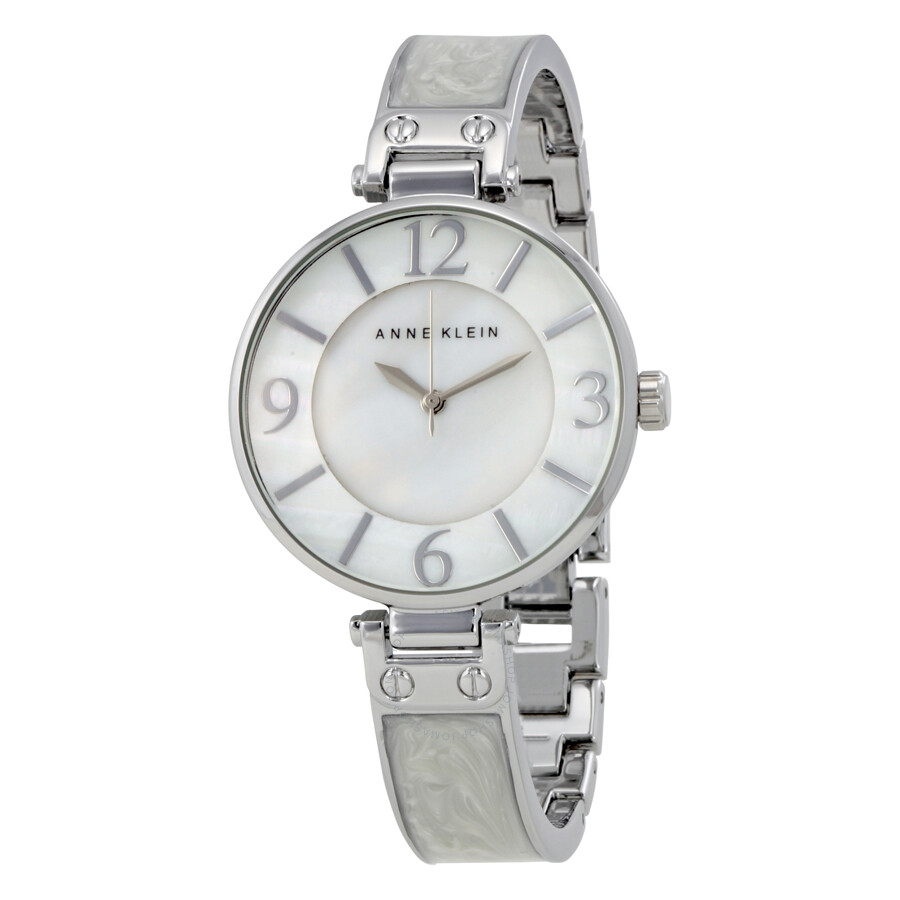 Anne Klein White Mother of Pearl  Dial Ladies Watch 2211WTSV