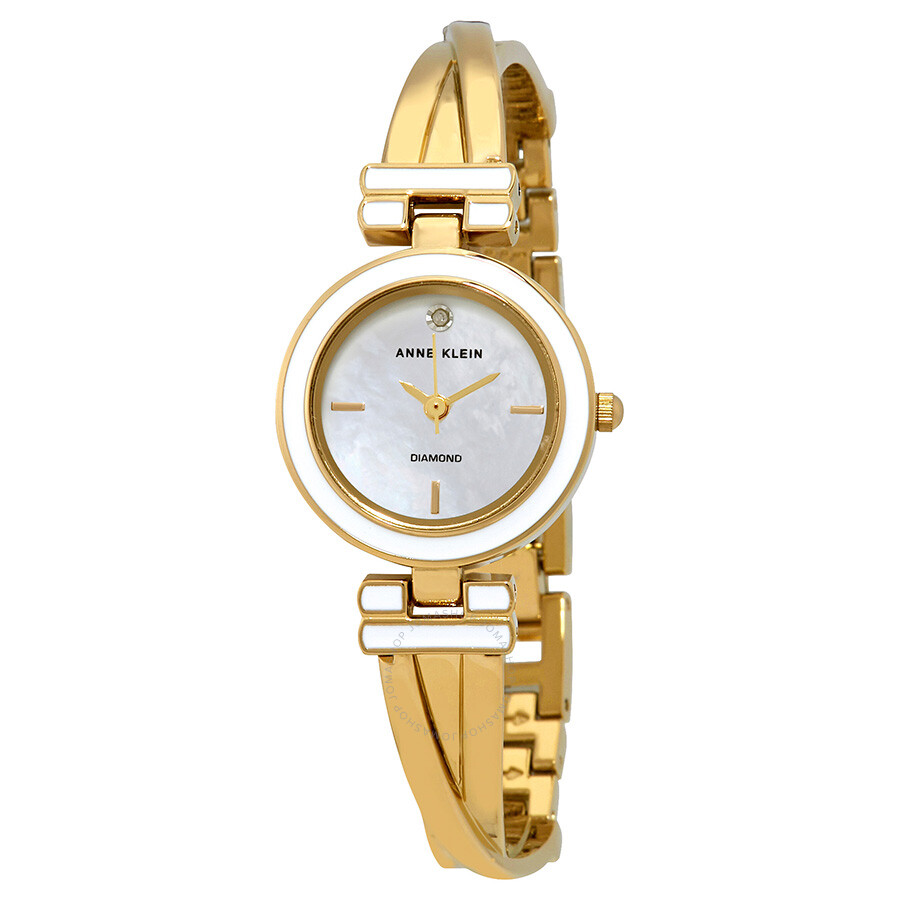 Anne KleinMother of Pearl Dial Ladies Watch 2622WTGB