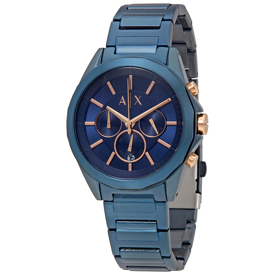 Armani Exchange Blue Dial Mens Chronograph Watch AX2607