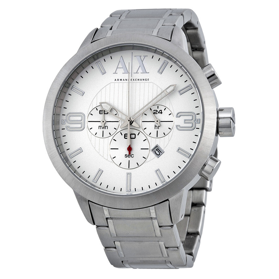 mens armani sport emporio watch was white chronograph watches