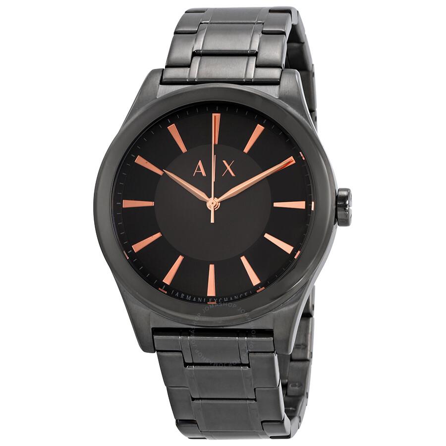 Armani Exchange Gunmetal Case Grey Sundial Dial Mens Watch AX2330
