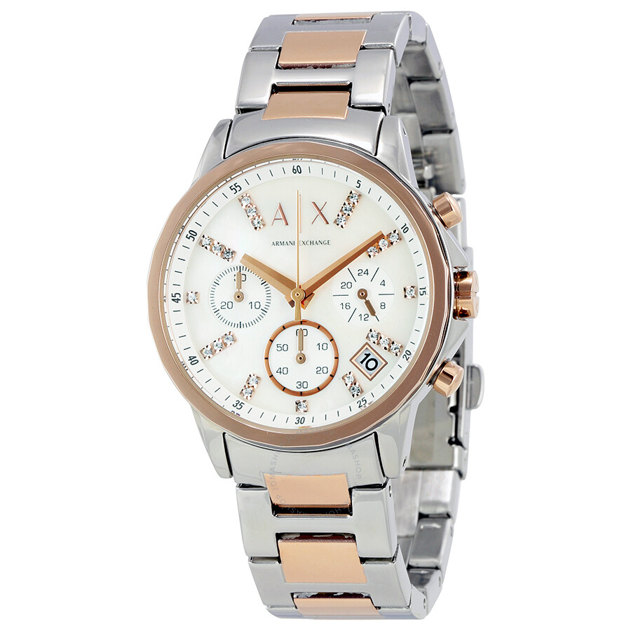 Armani Exchange Lady Banks Mother Of Pearl Dial Watch AX4331