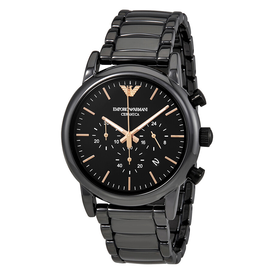 Emporio Armani Luigi Black Dial Mens Chronograph Watch AR1509