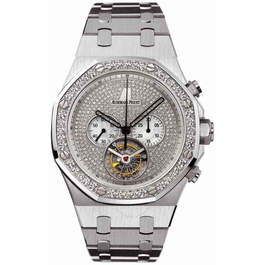 Audemars Piguet Royal Oak Diamond Chronograph 18 kt White Gold Mens Watch 26039BC. ZZ.1205BC.01