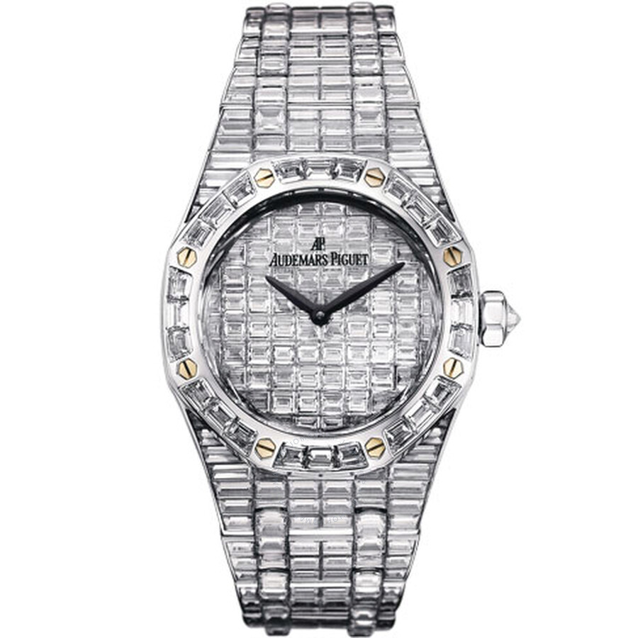 Audemars Piguet Royal Oak Diamond Pave White Gold Ladies Watch 67606BC. ZZ.9179BC.01