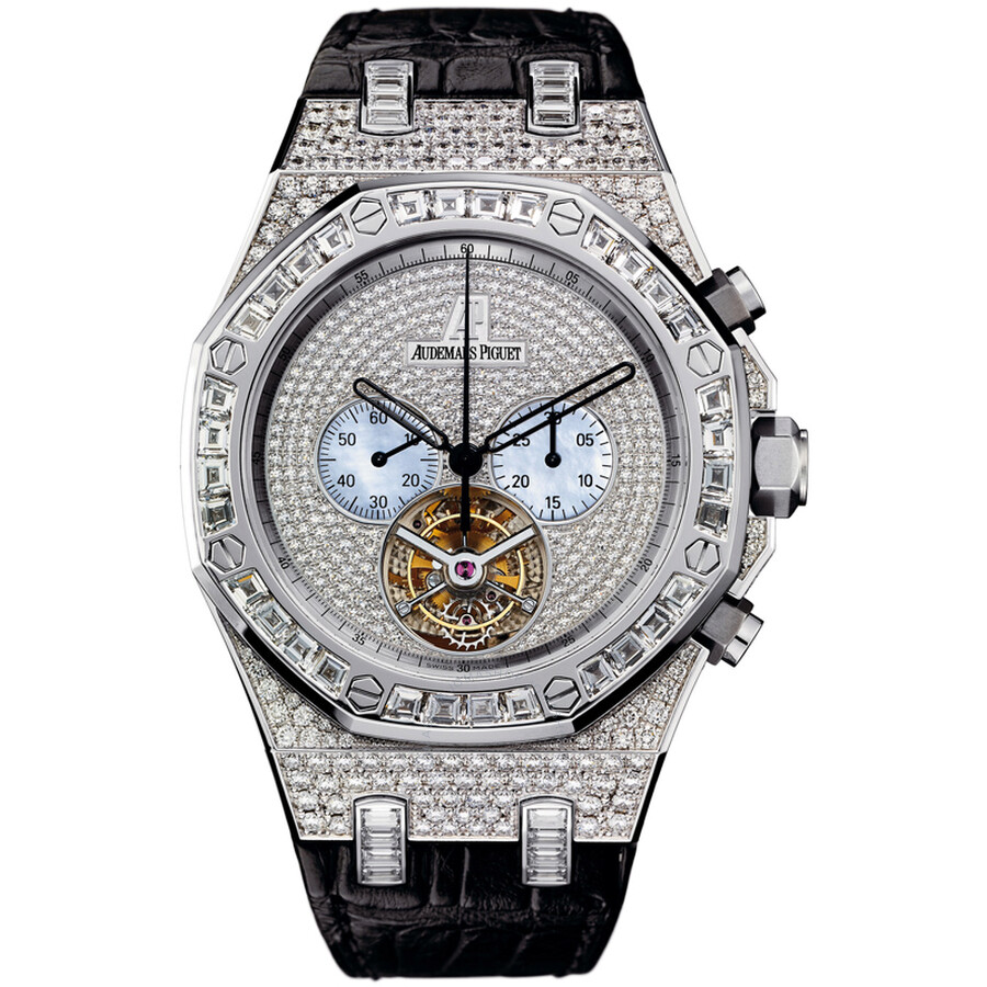 Audemars Piguet Royal Oak Diamond Tourbillon Chronograph White Gold Mens Watch 26116BC. ZZ. D002CR.01