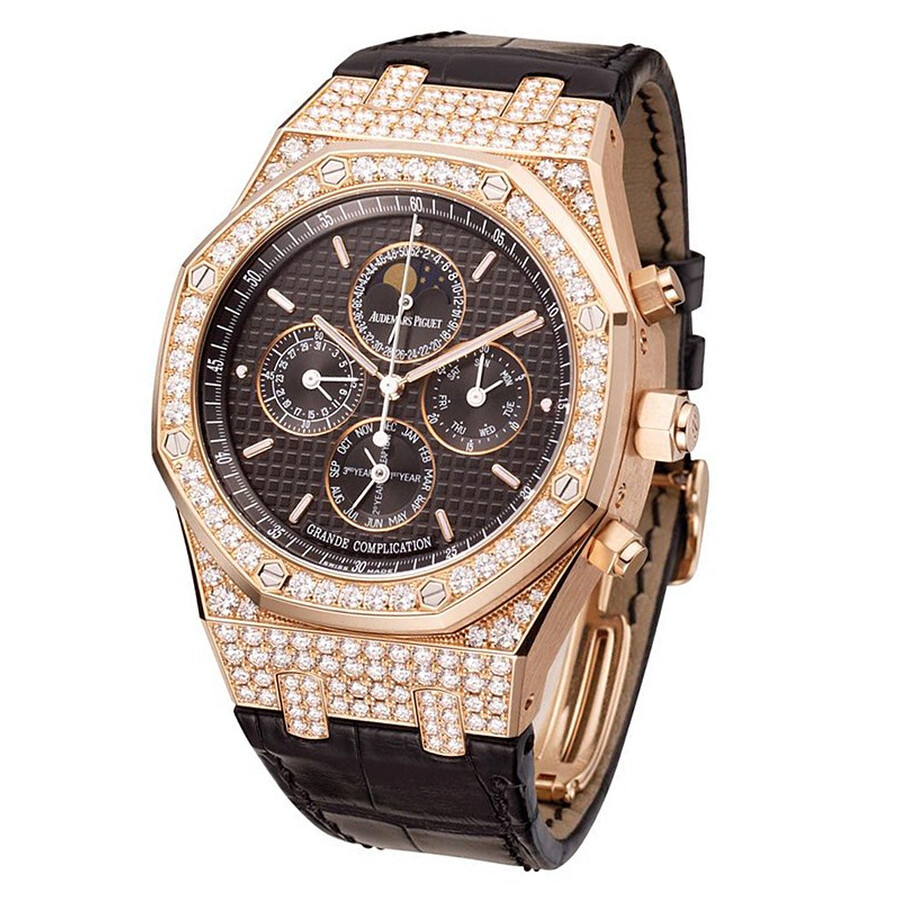 Audemars Piguet Royal Oak Grande Complication Diamond and Rose Gold Mens Watch 25990OR. ZZ. D002CR.01