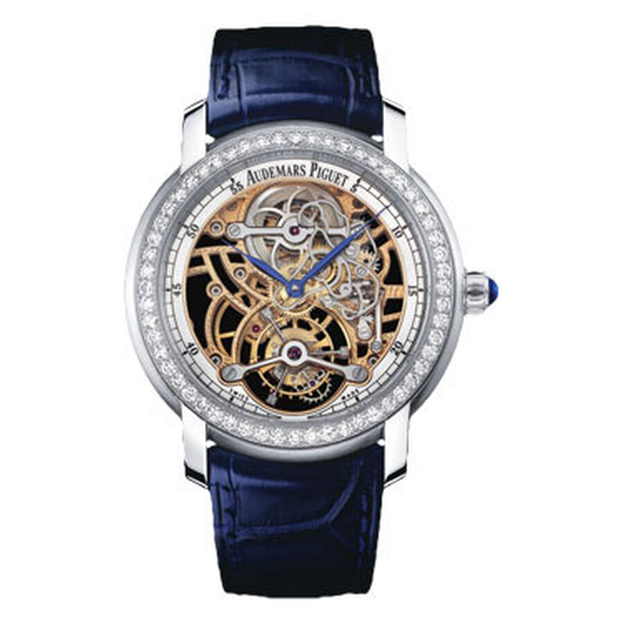 Audemars Piguet Skeleton Tourbillon Diamond Platinum 950 Ladies Watch 26357P..