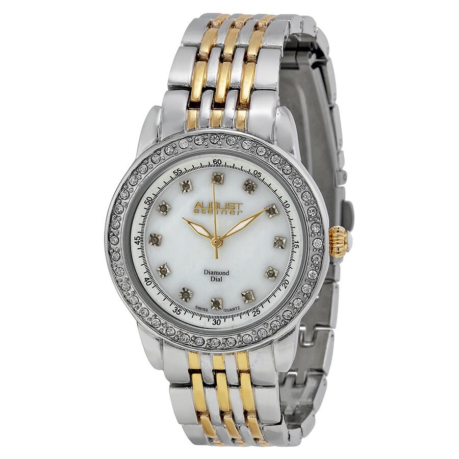 August Steiner Two-tone Diamond Ladies Watch AS8045TTG