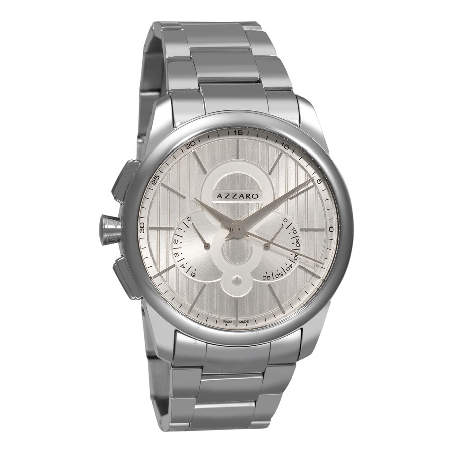 Azzaro Legend Silver Dial Chrongoraph Stainless Steel Mens Watch AZ2060.13SM.000