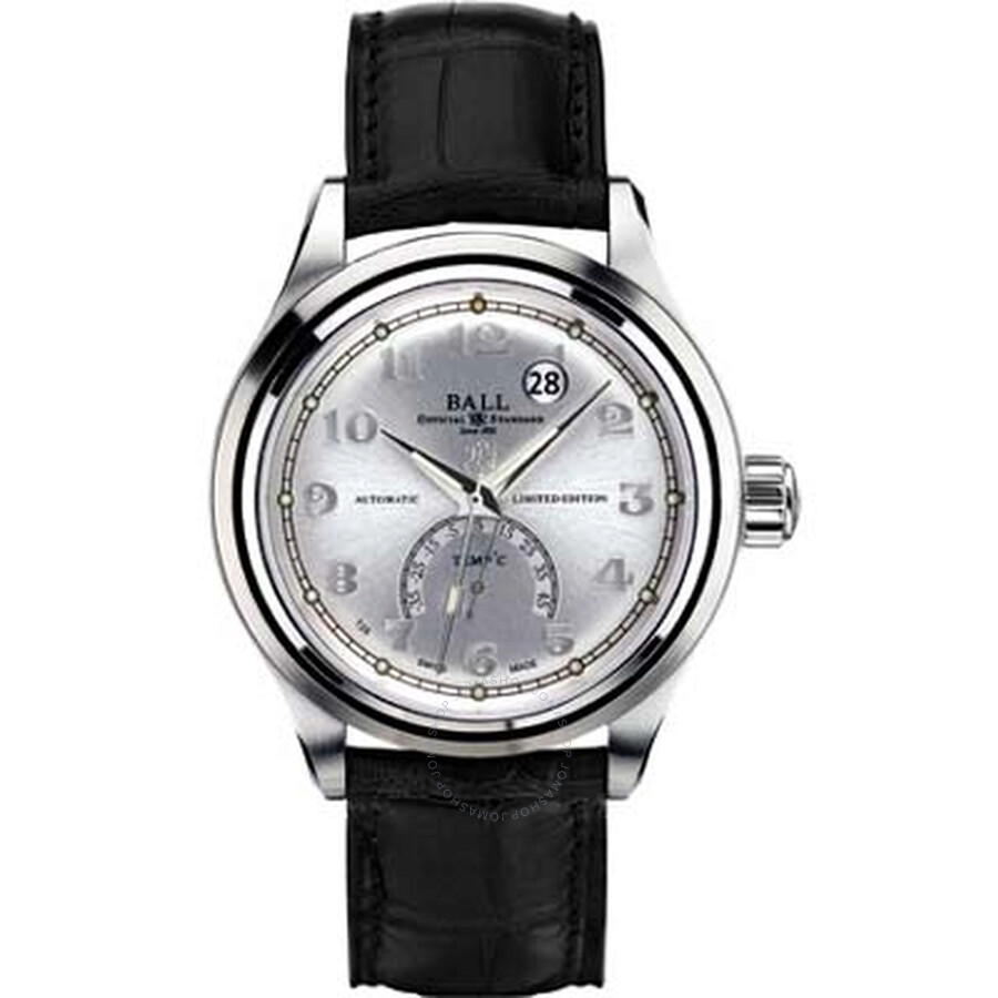 Ball Trainmaster Celsius Automatic Silver Dial Leather Mens Watch NT1050D-LJ-SLC
