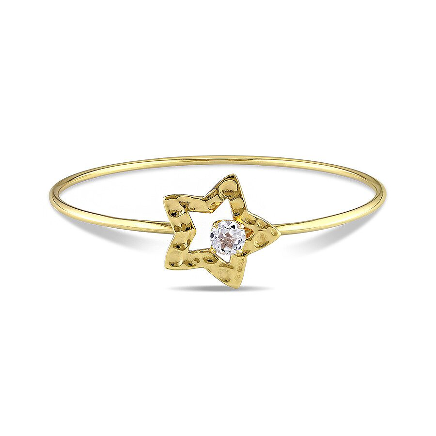 Amour 1 Ct. Fashion Bangle with Star Silver Gold plated