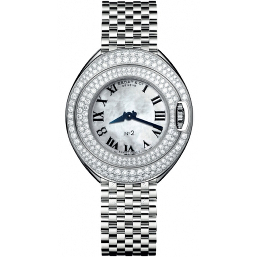 Bedat No. 2 Mother of Pearl Dial Stainless Steel Diamond Unisex Watch 228.051.90