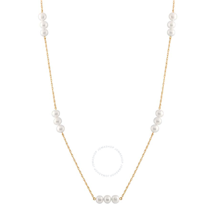 Bella Pearl 10K Gold Chain Floating Freshwater Pearl Necklace