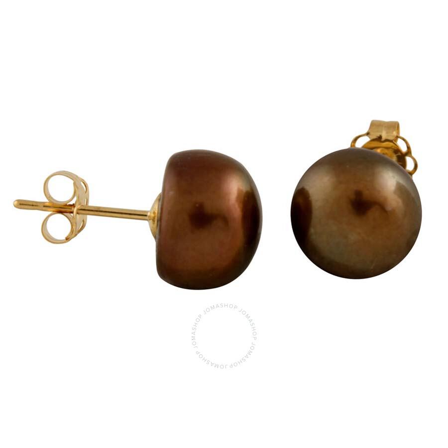 Bella Pearl Black Freshwater Pearl Stud Earrings BW-9C