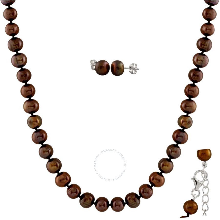 Bella Pearl Chocolate Pearl Jewelry Set FGS-53