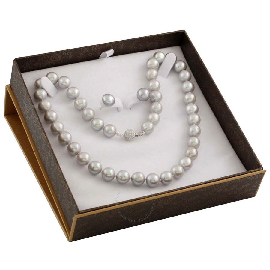 Bella Pearl Grey Freshwater Pearl Boxed Jewelry Set SET-I