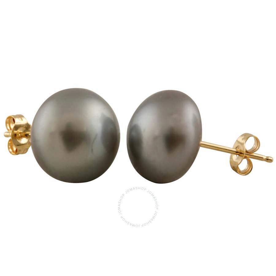 Bella Pearl Grey Freshwater Pearl Stud Earrings BW-10G