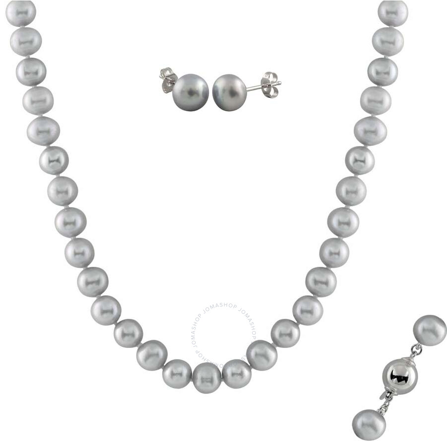 Bella Pearl Grey Pearl Jewelry Set FGS-52