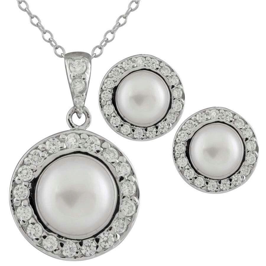 Bella Pearl Matching Jewlery Set NESR-175