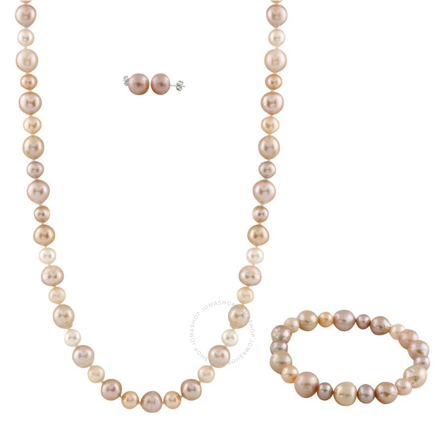 Bella Pearl Natural Multicolor Freshwater Pearl Jewelry Set FGS-55