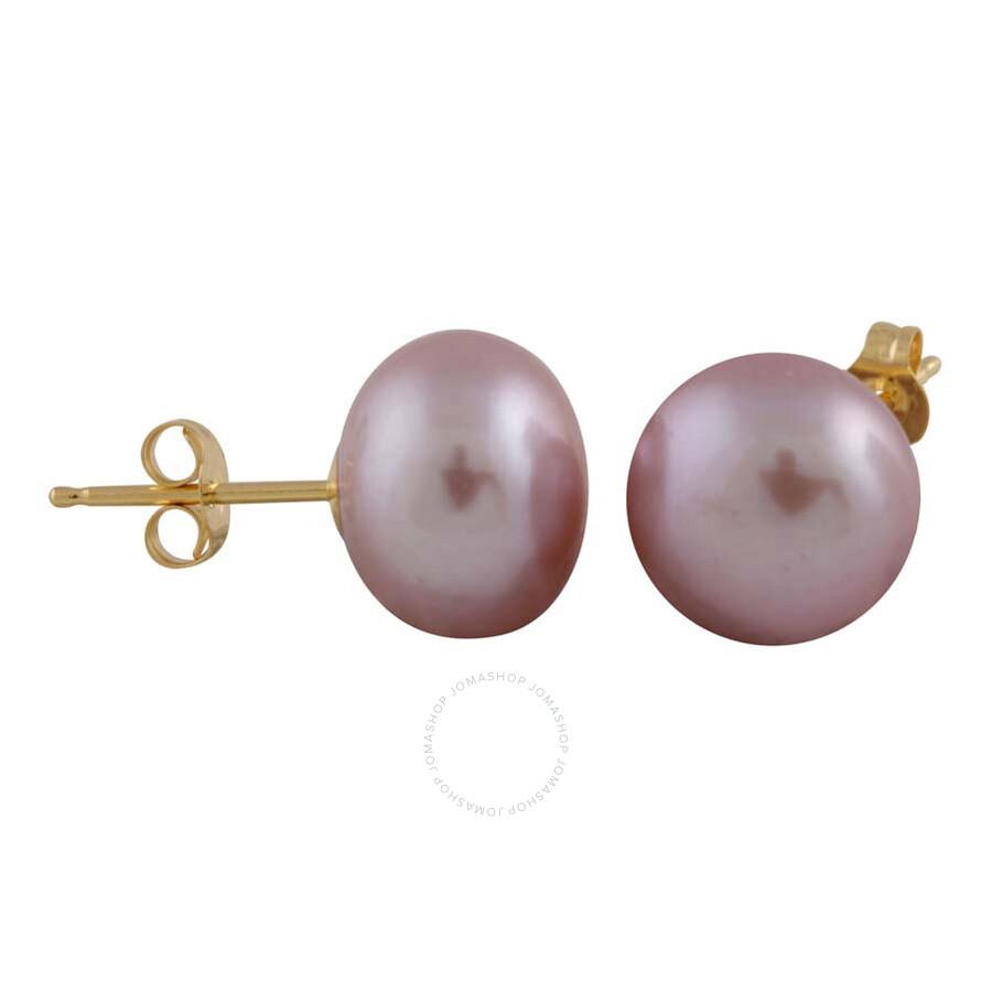 Bella Pearl Pink Freshwater Pearl Stud Earrings BW-9PU