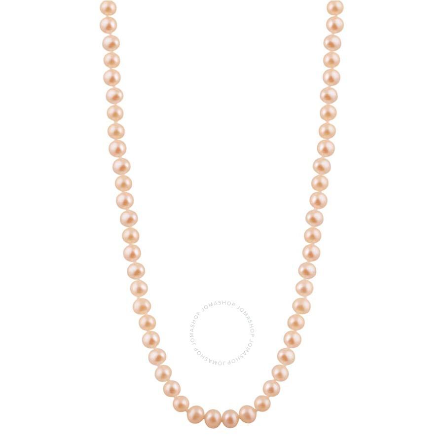 Bella Pearl Single Strand Peach Freshwater Pearl 20 Necklace FWR5-20PI
