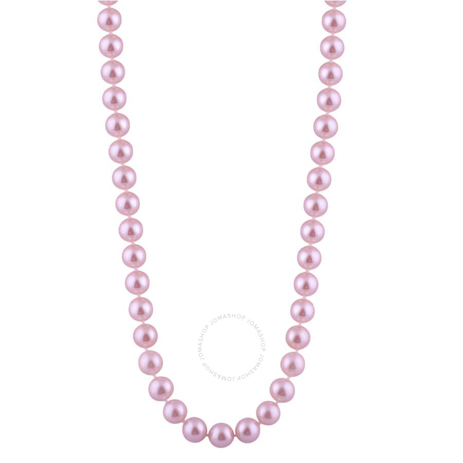 Bella Pearl Single Strand Purple Freshwater Pearl 18 Necklace FWR5-18PU