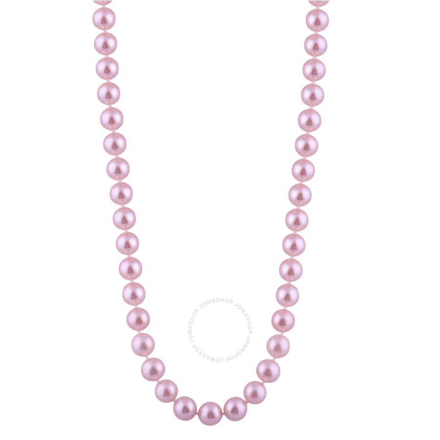 Bella Pearl Single Strand Purple Freshwater Pearl 24 Necklace FWR8-24PU