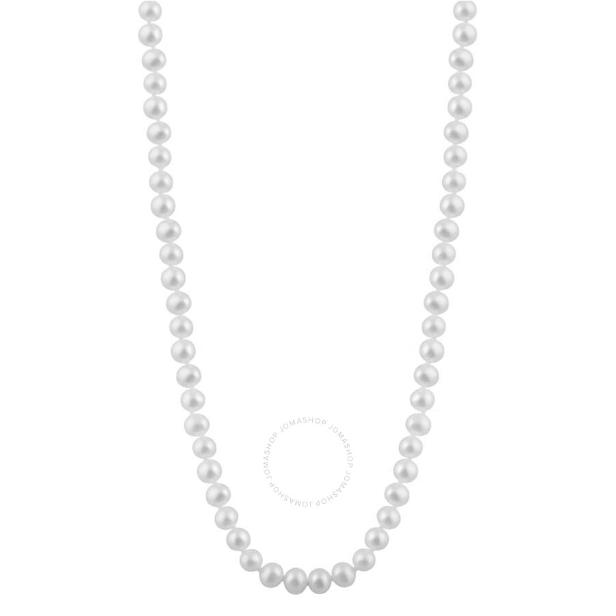 Bella Pearl Single Strand White Freshwater Pearl 24 Necklace FWR5-24W