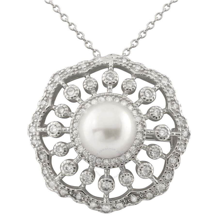 Bella Pearl Sterling Silver Filigree Pearl Pendant NSR-304