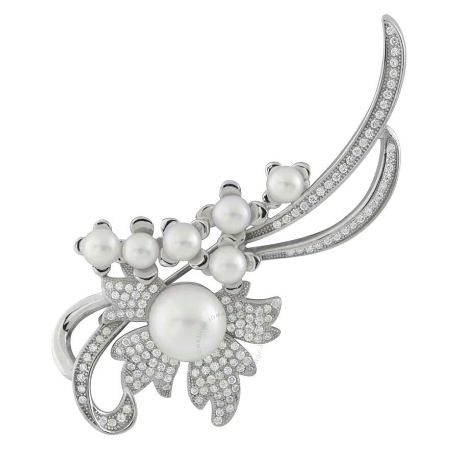 Bella Pearl Sterling Silver Freshwater Pearl Brooch