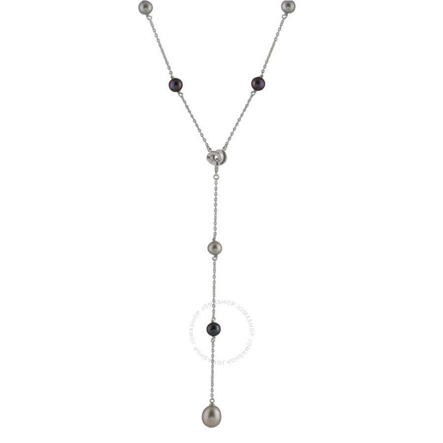 Bella Pearl Sterling Silver Lariat Necklace NSR-17B