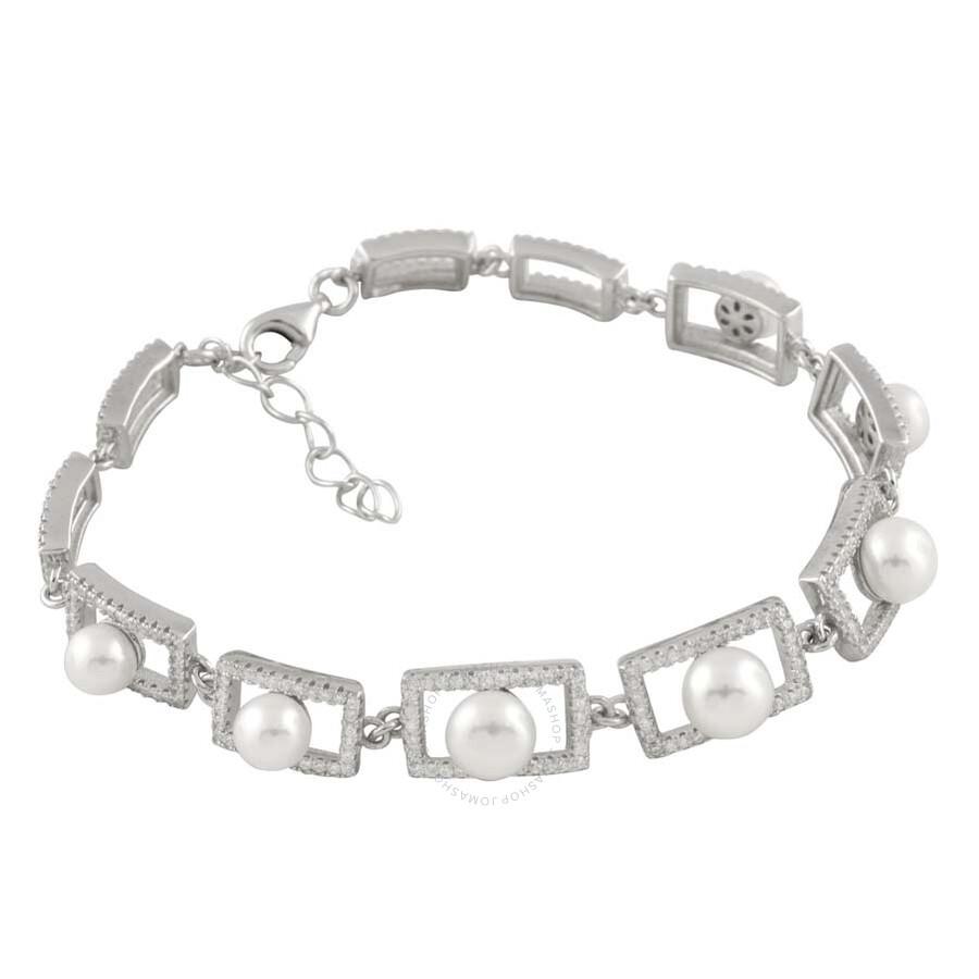 Bella Pearl Sterling Silver Pearl Bracelet